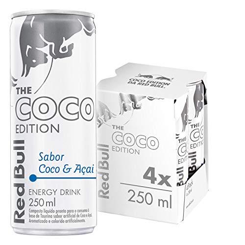Energético Red Bull Energy Drink, Coco e Açaí, 250 ml (4 latas)