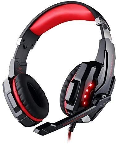 YHLZ Gaming Headset, Gaming Headset for Xbox One Filaire stéréo sur Ear Gaming Casque réduit Le Bruit Mic LED (Color : Black Red)