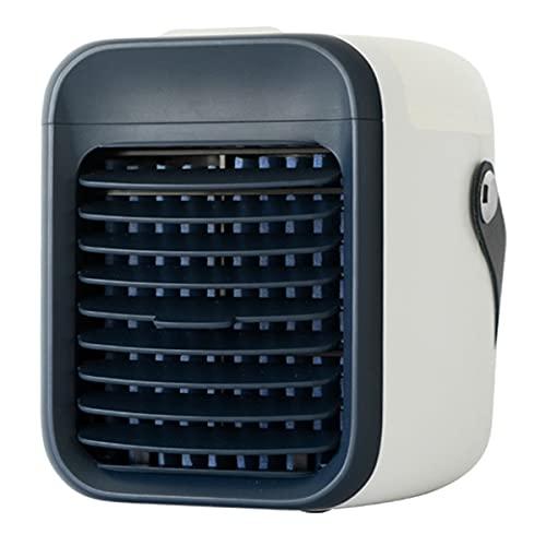 YGTMV Condizionatore Portatile,Mini Condizionatore d'Aria Climatizzatore Air Cooler, Raffreddatore Evaporativo,con 3 velocità E 7 LED Colori, per Casa Ufficio,Nero