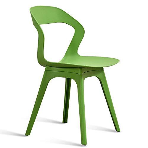 Stuhl Modernes Design Esszimmerstühle Rückenlehnen Design Wohnzimmer Lounge Chair Umweltfreundliches PP-Material Für Office Lounge Design Stuhl Mehrfarbig optional (Farbe: Weiß)