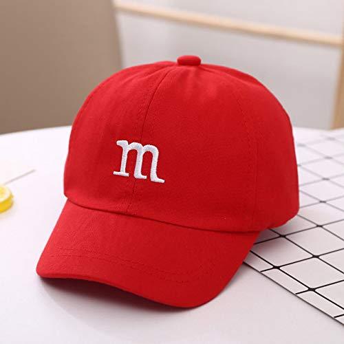 Gorra de béisbol para niños para niños, niñas, niños, Sombreros, Protector Solar, Gorro de bebé, Hip Hop, Gorras Lindas para niños, 1-6 años-Red