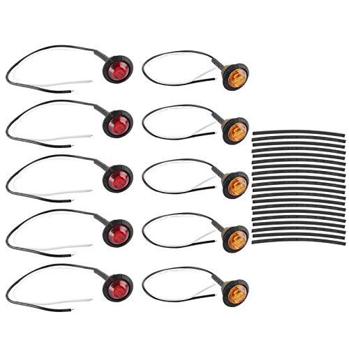 Auto-LED-Begrenzungsleuchte , Seitenmarkierung Blinker Light6000K Bernsteinfarbene PC-Linse mit Schrumpfschlauch für Anhänger-LKW-Van-Pickup