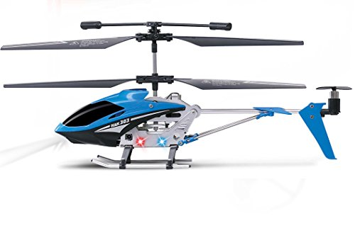 Haktoys HAK303 Infrared Control 3.5 Channel 9'' RC Helicopter with Gyroscope Stabilization & LED...