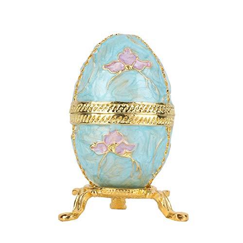 Xndz Joyero de Huevo de Pascua, joyero, patrón Hermoso, Caja de baratija, Colores Suaves y Ricos, para joyero Organizador de Joyas