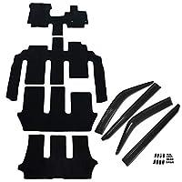 D.Iプランニング カー用品 フロアマット & ラゲッジマット & ドアバイザー セット ガソリン車 6人乗り用 【 ホンダ フリード GB5 GB6 】 車用 カーマット DX黒 受注生産