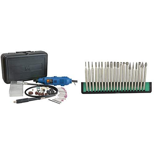 WEN 2305 Rotary Tool Kit with Flex Shaft & SE Diamond Burr Set (20 PC.) - DT220R