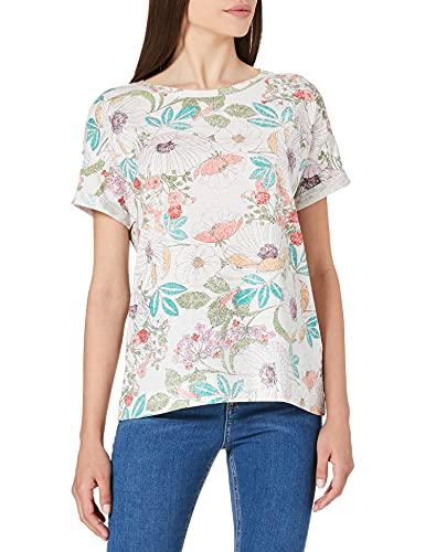 Esprit 041EE1K365 Camiseta, 110/Off White, M para Mujer