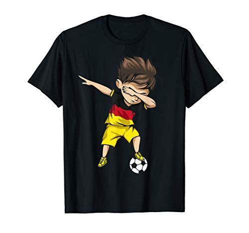 Dabbing Soccer Boy Germany Jersey - German Football T-Shirt
