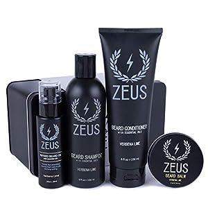 ZEUS Everyday Beard Care Kit – USA MADE – Beard Shampoo/Conditioner, Refined Beard Oil & Balm - Moisturizing & Smooth… 5