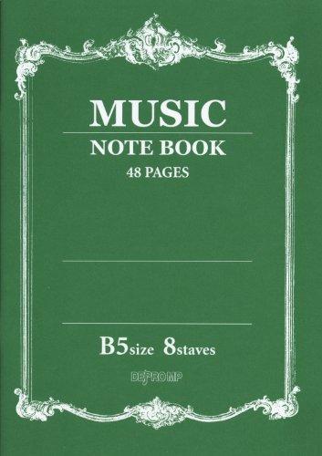 MUSIC NOTE BOOK 音楽5線ノート B5 8段