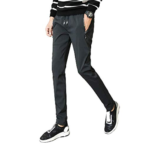 nobranded Pantalons pour Hommes Pantalons décontractés Nylon Respirant Confortable Bas de Jogging à séchage Rapide Pantalon de Jogging Pantalon Slim Fit Poches élastiques à la Taille