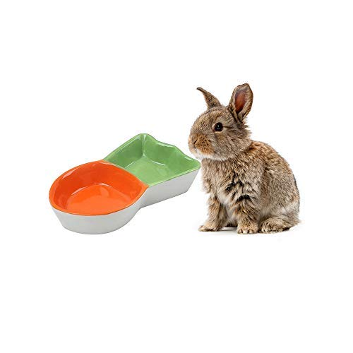 GZGZADMC Hamster Bowl, Ceramic Prevent Tipping Moving Chewing Food Dish, Ceramic Food and Water Bowl for Rodent Gerbil Hamster Mice Guinea Pig Hedgehog Small Animal
