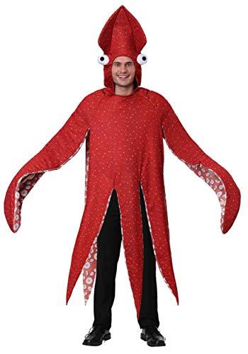 Adult Squid Costume Standard Red