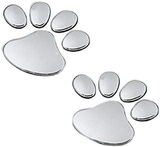 2Pcs Stylish Bear Paw Pet Animal Footprints Emblem Car Truck Decor 3D Stickers Decal Car Sticker