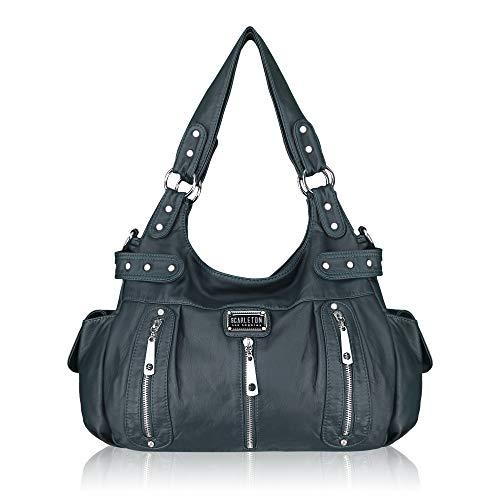 Scarleton Satchel Handbag for Women, Purses for Women, Shoulder Bag, Tote Purse, Ultra Soft Washed Vegan Leather Crossbody Bag, H1292