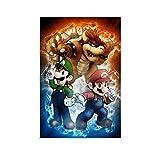 Super Mario Bros Mario Luigi Bowser Leinwand-Kunst-Poster