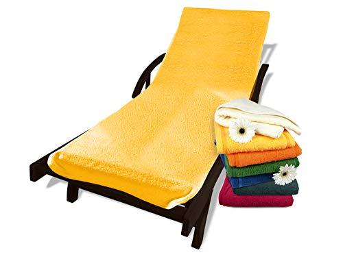 Dyckhoff Schonbezug mit Kapuze für Gartenstuhl oder Gartenliege 270.1158, Gartenliege, gelb