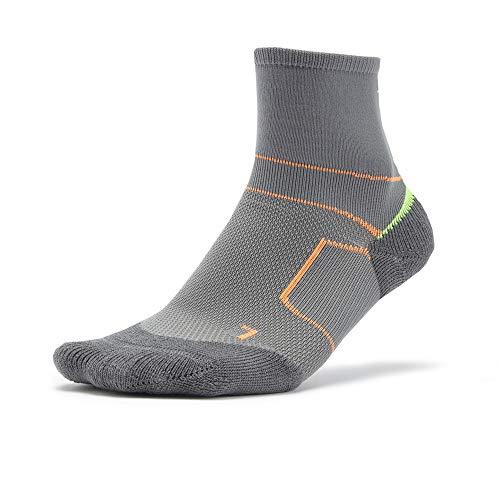 Mizuno ER Trail Socken, Unisex Adulto, Gris, Naranja y Amarillo, Medium