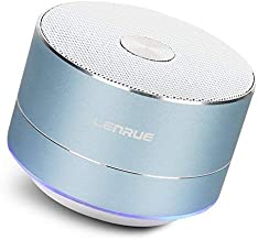 LENRUE Portable Wireless Bluetooth Speaker with Built-in-Mic,Handsfree Call,AUX Line,TF Card,HD Sound and Bass for iPhone Ipad Android Smartphone and More (Blue)