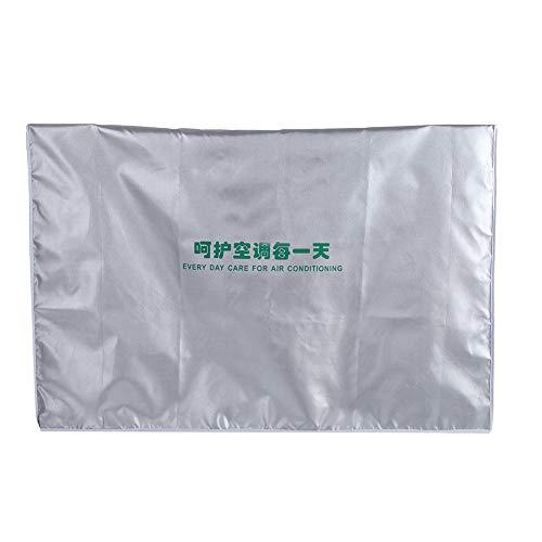 GOTOTOP Copri condizionatore d'Aria Ispessimento Generale per Esterni Poliestere Fantasia Argento Anti-Polvere Anti-Neve Impermeabile Resistente al Sole per la casa(#3)