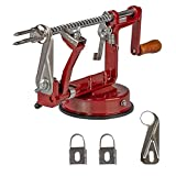 Ikigai Apple Peeler Slicer Corer with Stainless Steel Blades and Powerful Suction Base for Apples...