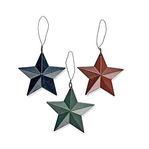 24 Tin Barn Star Ornaments Christmas Tree Set Lot Primitive Country Rustic
