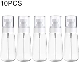 JINTONGJU 10 PCS Portable Refillable Plastic Fine Mist Perfume Spray Bottle Transparent Empty Spray Sprayer Bottle, 80ml(Transparent) Cosmetics (Color : Transparent)
