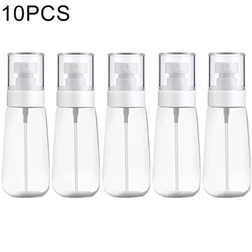10 PCS Portable en plastique Rechargeables fine Mist Parfum Vaporisateur Transparent pulvérisation vide Bouteille Pulvérisateur, 80ml (transparent) (Couleur : Transparent)