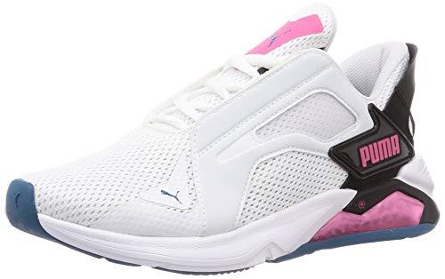 PUMA LQDCELL Method WN'S, Zapatillas de Gimnasio Mujer, Blanco White Black/Luminous Pink, 38.5 EU