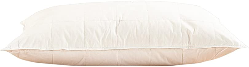 """Lilysilk 1116-01-5065+6 Washable Silk Bed Pillow Insert Cotton Cover Standard (20"""" x 26"""" + 6"""")"""