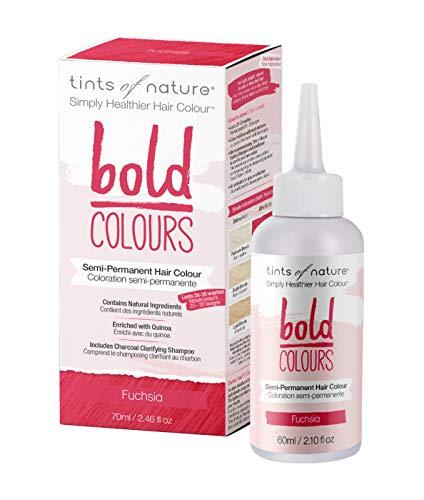 Tints of Nature Bold Fuchsia, Vegan Semi Permanent Natural Hair Dye, Ammonia, PPD, Parabens, Silicone and Sulfates Free, Single