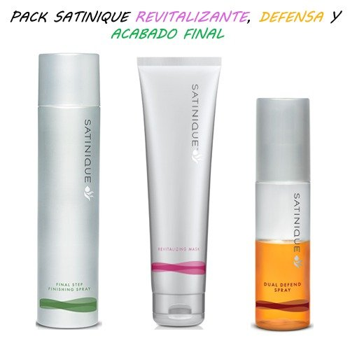 Spray Finition Ultime SATINIQUE 250 ml + Masque Revitalisant SATINIQUE 240 ml + Spray Double Protection SATINIQUE 100 ml