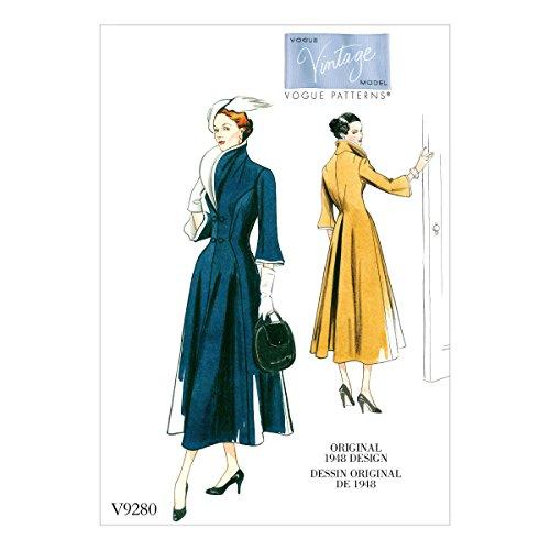 Vogue patroon jurk, tissue, meerkleurig, 15 x 0,5 x 22 cm