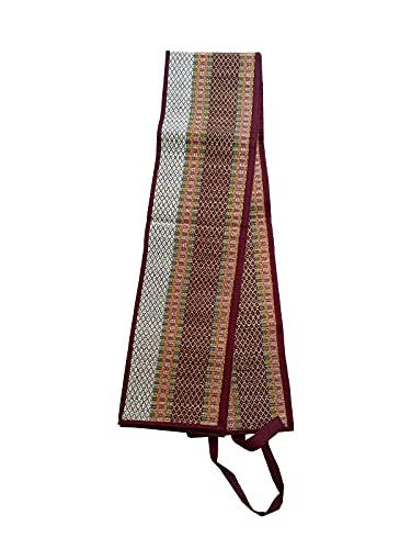 Shoppingkart24 Madurkathi - Esterilla de hierba ligera respetuosa con el medio ambiente para ejercicio físico y meditación