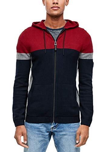 s.Oliver Herren 13.909.64.2301 Strickjacke, Rot (Uniform Red 36g3), Large (Herstellergröße: XL)