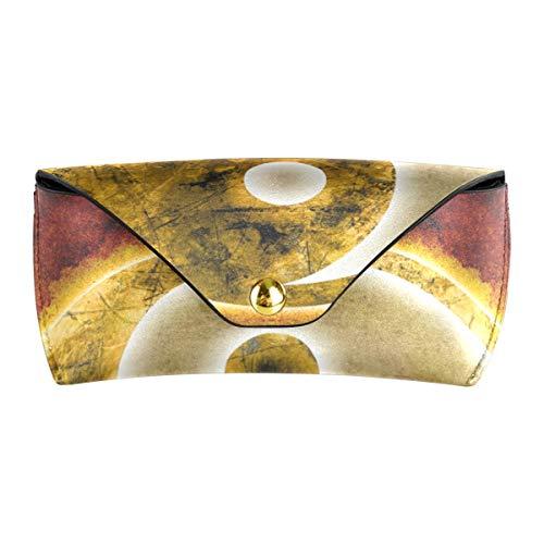 XiangHeFu Brillenetui Pu-leder Tragbare Reise Multiuse Yin Yang Symbol Schutzbrillen Tasche Sonnenbrille Fall