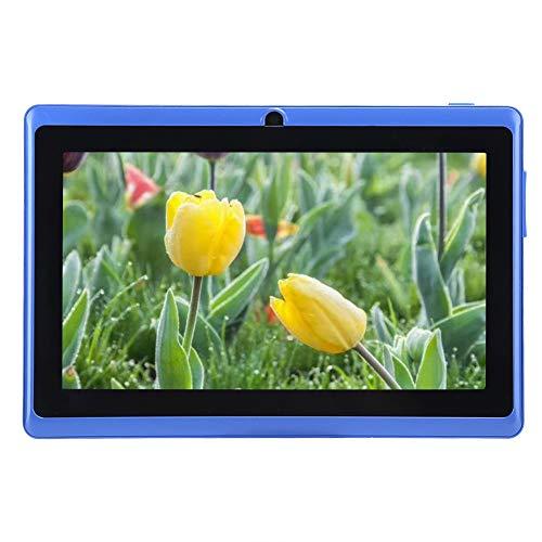 Tablet PC per bambini, tablet WiFi Android da 7  , 1 GB di RAM + 8 GB di ROM, schermo di protezione per gli occhi, 50 app educative gratuite preinstallate, regalo per bambini(Blu)