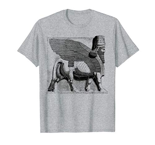 Assyrian Winged Bull Lamassu Irak Iran Souvenir Geschenk T-Shirt