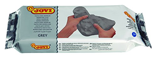 Jovi Air-Dry Modeling Clay; 1.1 lb. Grey, Non-staining, Perfect for Arts and Crafts Projects