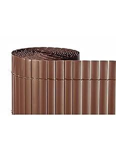 Faura 1,5x3m - Cañizo de PVC Doble Cara 1600gr/m2 - Marron Teka