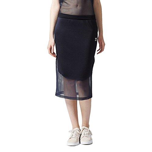adidas Originals Osaka Midi Skirt Midirock Rock sexy Bleistiftrock transparent, Größe:34, Farbe:Navy