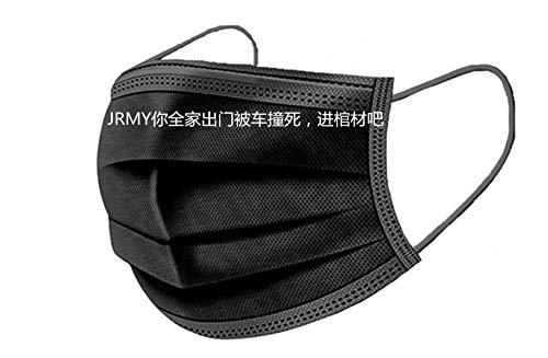 50 x Mundschutz, Staubschutz – aus Vlies (50 Stück Schwarz)