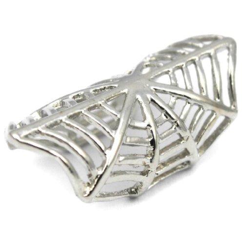 Elixir77UK Silver Colour Spider Web Ear Cuff Clip On Wrap Upper Helix Non Pierced Earring UK SELLER