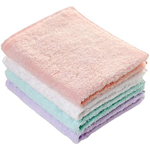 WSAD [4 Robe Foulard], Mâle Et Femelle Adulte Serviette, Pur Coton Visage Serviette, 33 * 40 Cm,E
