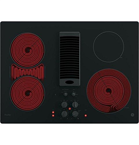 """GE Profile 30"""" Downdraft Electric Cooktop PP9830DJBB"""