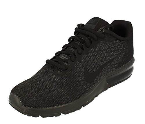 Nike Womens Air Max Sequent 2 Running Trainers 852465 Sneakers Shoes (UK 4 US 6.5 EU 37.5, Black Black Black 015)