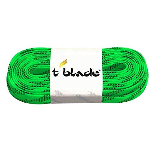T-Blade Schnürriemen für Schlittschuhe Schnürsenkel tblade gewachst (grün)