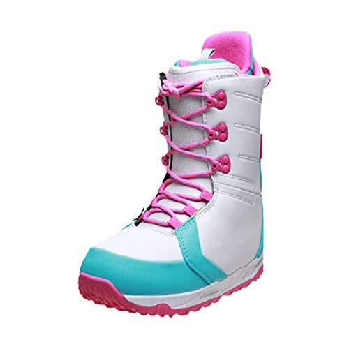 XZZ Damen Snowboard Boots, Outdoor Snowboardschuhe, Hohe Schneestiefel, Warme, rutschfeste Skiausrüstung Für Anfänger