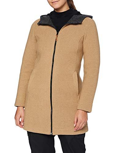 CMP Damen Parka in lana con cappuccio fix Jacke, Dune-Grey Mel., 36