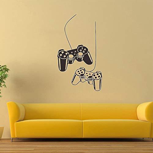 """SITAKE Accesorios de juegos adhesivos de pared para dormitorios para niños """"Dual Gamepad"""" decoración de habitación de niños, decoración de pared infantil para sala de juegos, 57 x 100 cm"""
